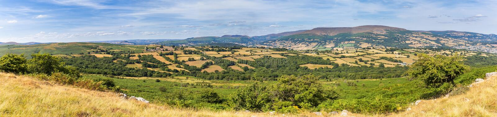 Panorama Brecon Beacons National Park royalty free stock images