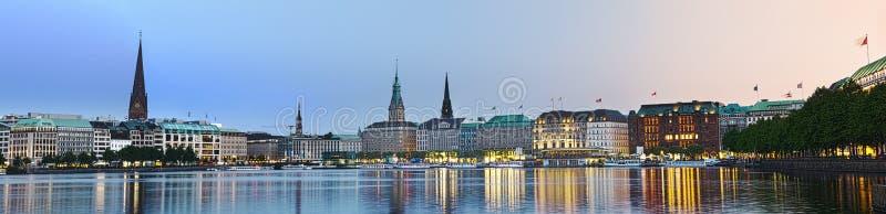 Panorama brilhante de Alster foto de stock royalty free