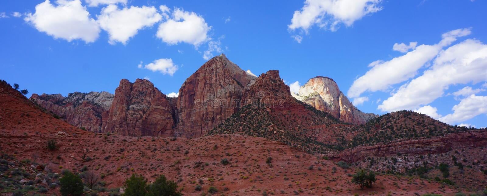 Zion Mountains Panorama stock image