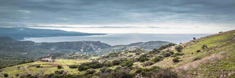 Panorama brzegowy Sardinia, Włochy obraz stock