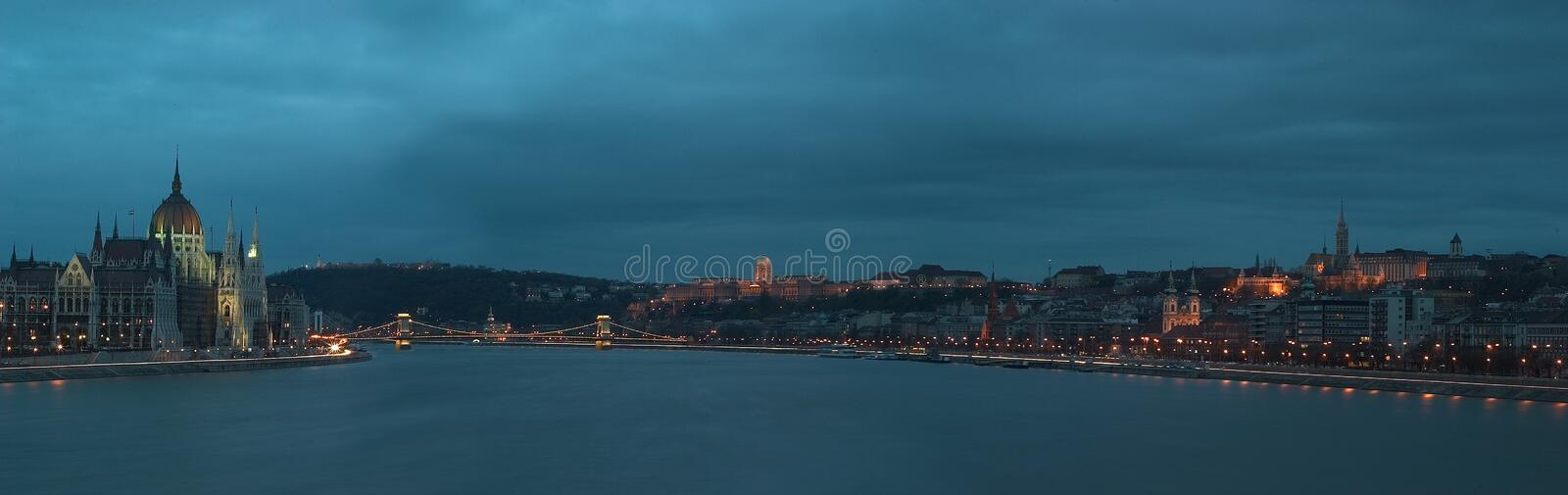 Panorama of Budapest. Budapest, the capital of Hungary stands on both sides of the river Danube royalty free stock photography