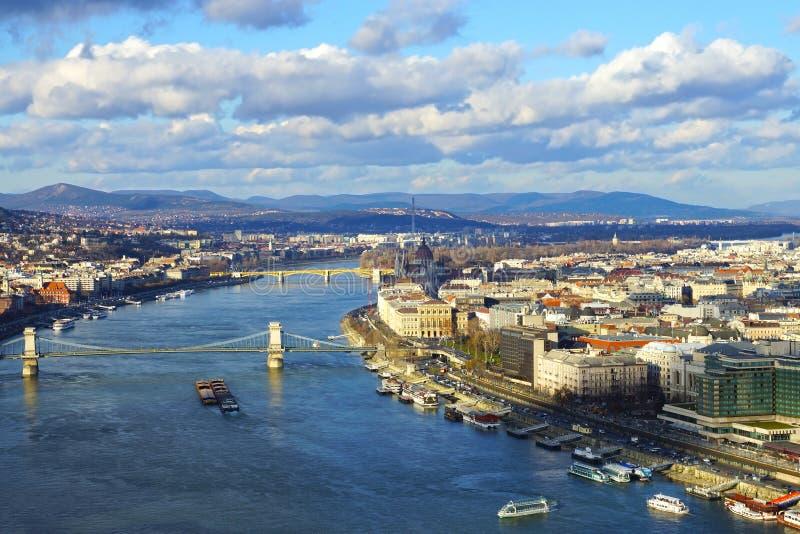 Panorama Budapest Węgry fotografia stock