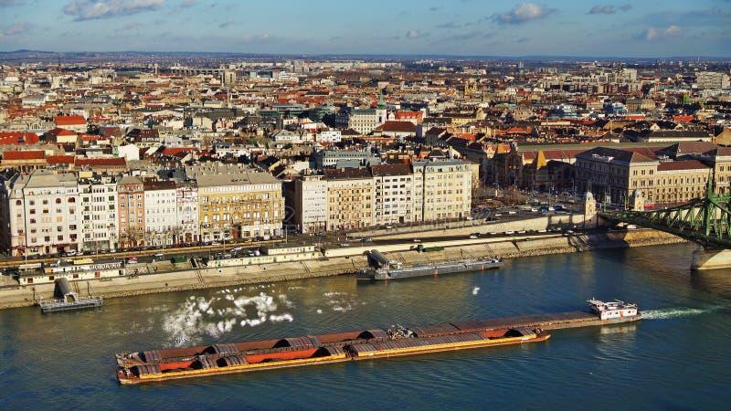 Panorama Budapest w słonecznym dniu, Węgry fotografia royalty free