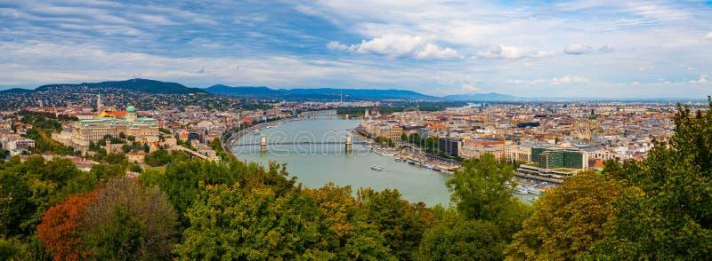 Panorama Budapeszt obrazy royalty free