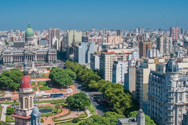 Panorama of Buenos Aires, Argentina royalty free stock image