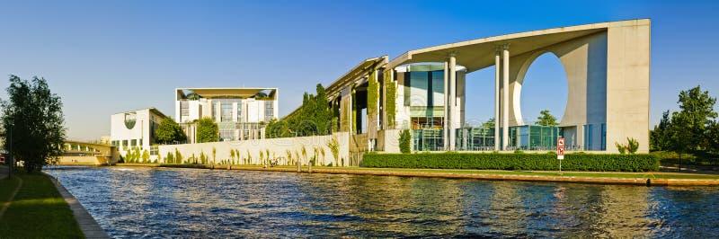 Panorama bundeskanzleramt in berlin stock images