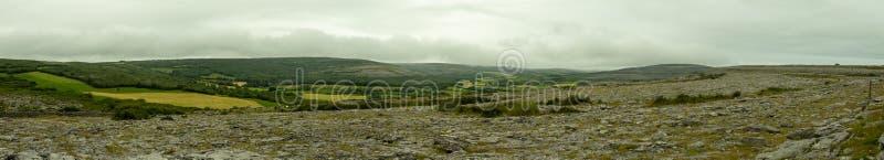 Panorama Burren w Irlandia fotografia stock