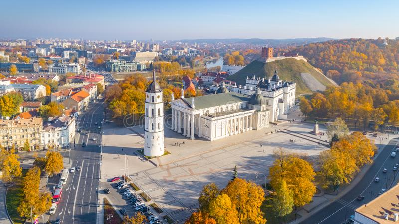Aerial view of Vilnius city, Lithuania royalty free stock photo