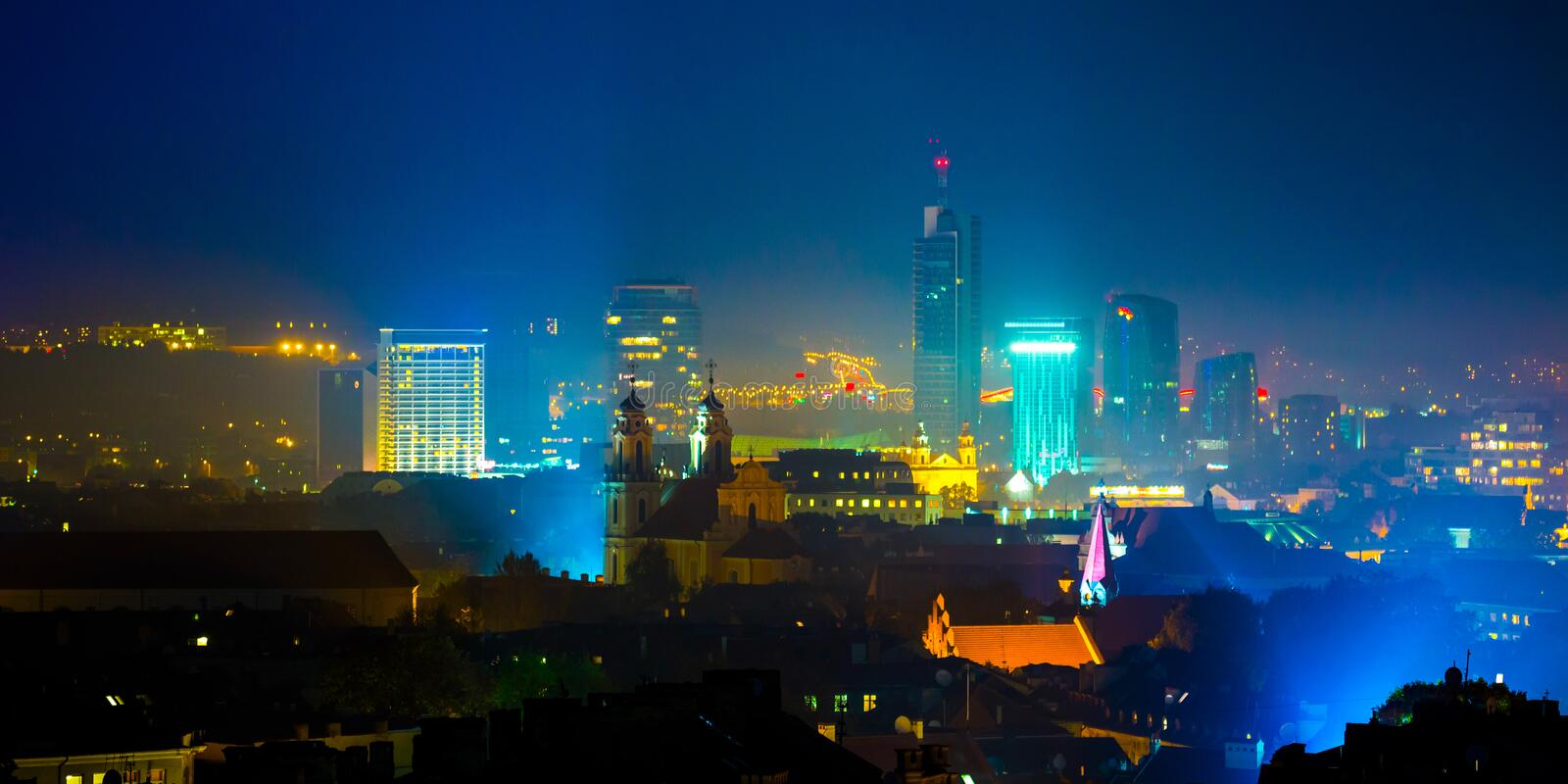 Panorama of the business centre of Vilnius royalty free stock images