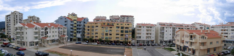 panorama- byggnader royaltyfri foto