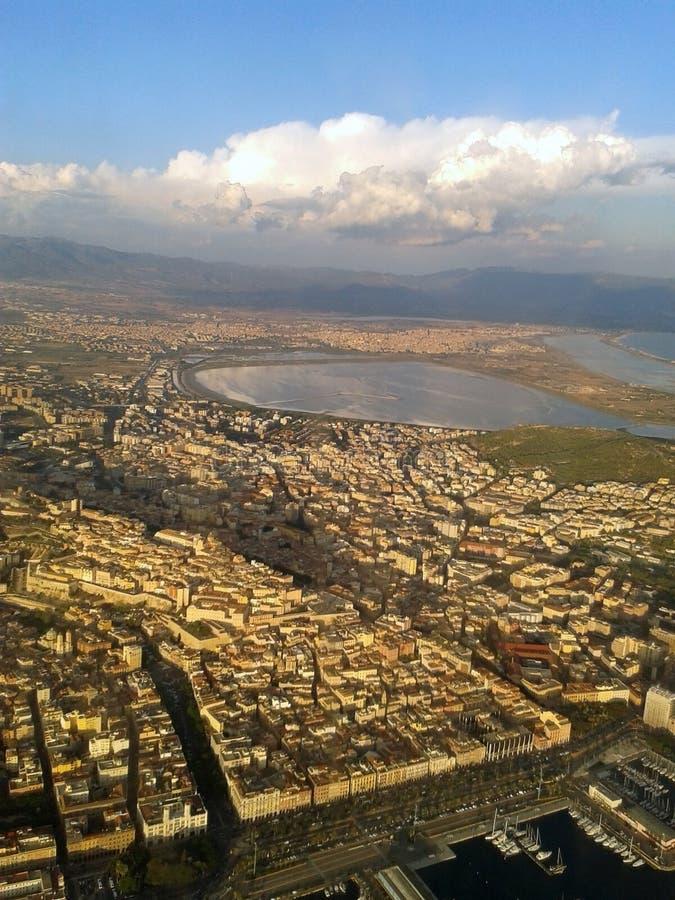 Panorama Cagliari lizenzfreie stockbilder