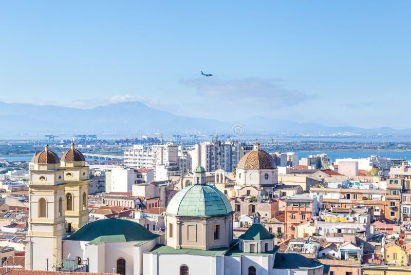 Panorama Cagliari , Sardinia island, Italy stock images