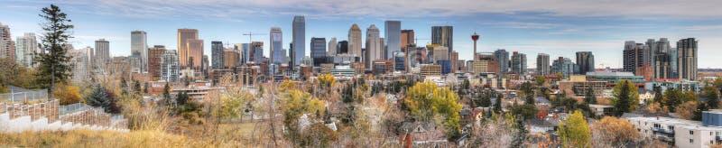 Panorama Calgary, Kanada linia horyzontu zdjęcie royalty free