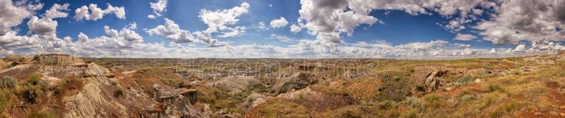 Panorama canadien de bad-lands image stock