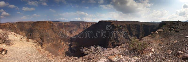 Panorama: Canyon Arta in Djibouti - Gibuti. Arta Canyon in Djibouti - Gibuti; desertic landascape royalty free stock image