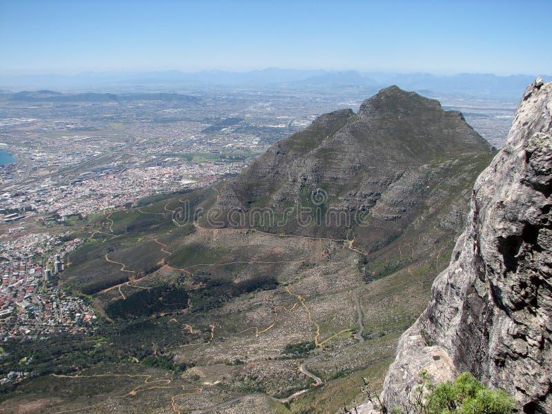 Panorama Cape Town en Lijstberg royalty-vrije stock foto's