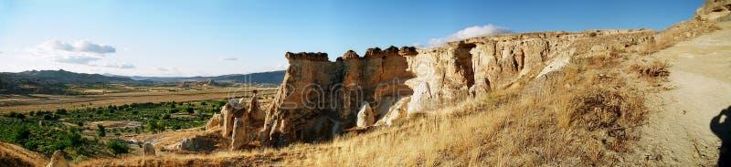 Panorama of Cappadocia royalty free stock photos