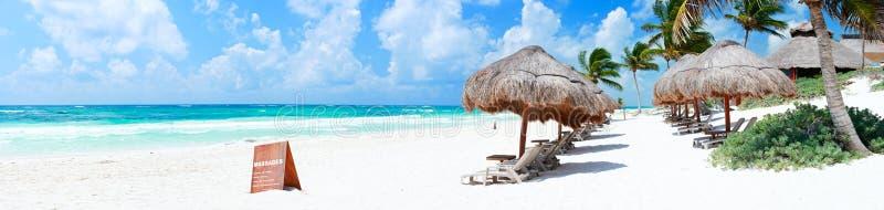Panorama caraibico della spiaggia fotografia stock libera da diritti