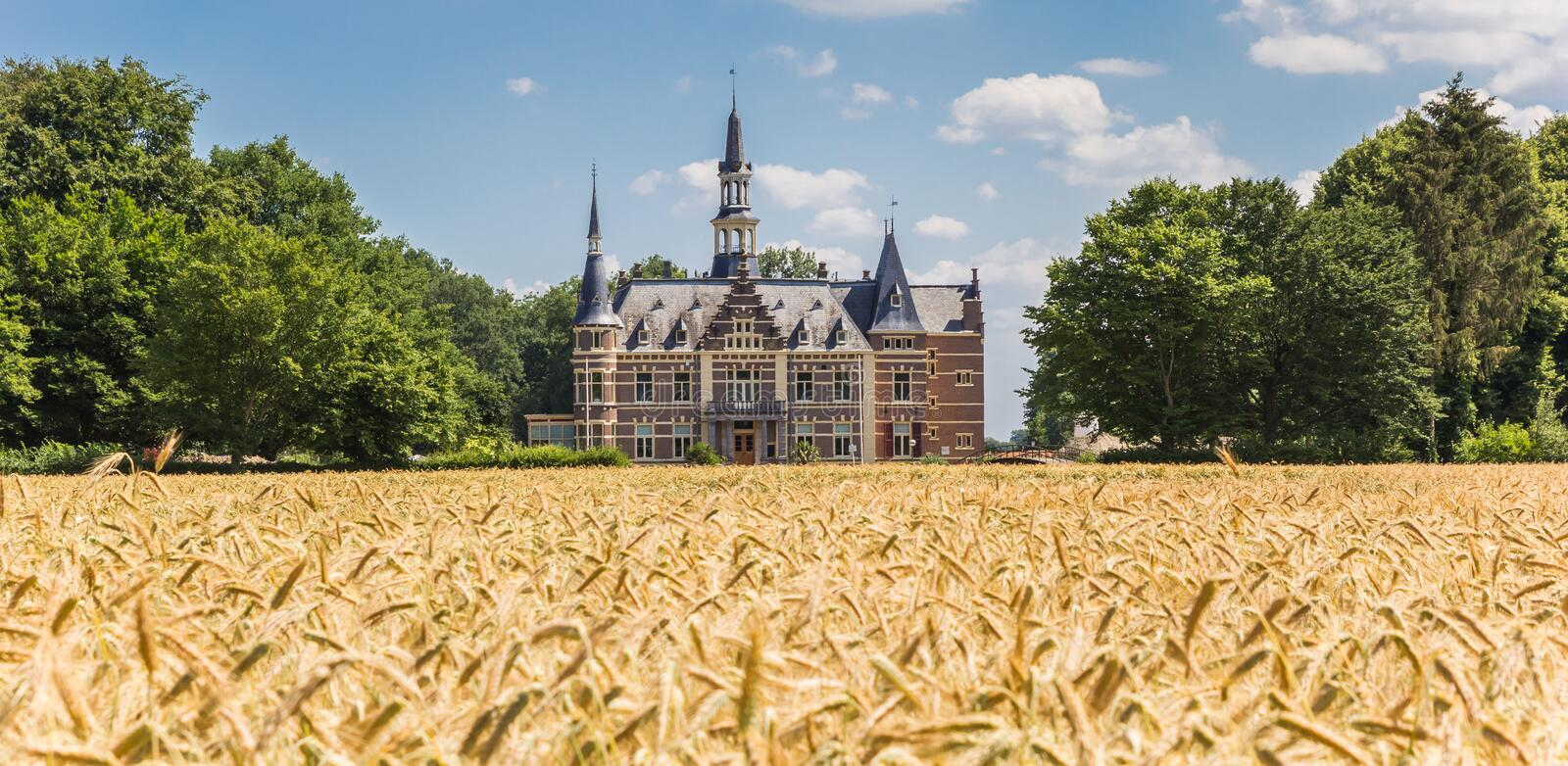 Panorama of castle Cloese near historic town Lochem. Netherlands royalty free stock photo