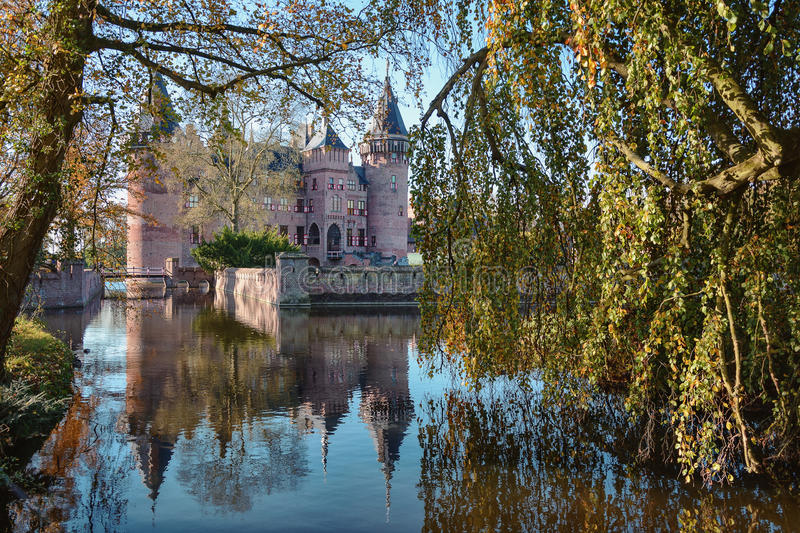 Panorama of the castle. stock photography