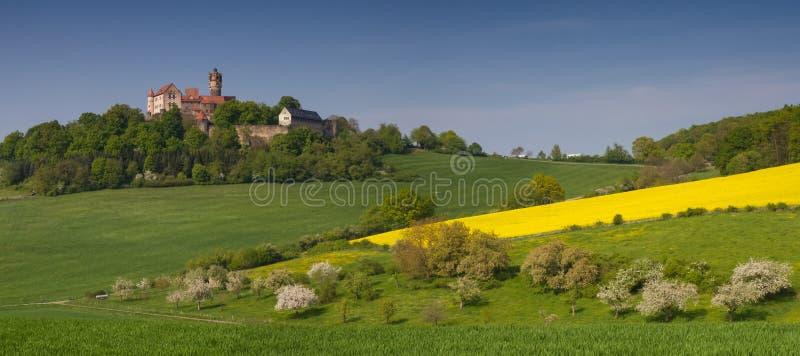 Panorama of Castle Ronneburg royalty free stock photos