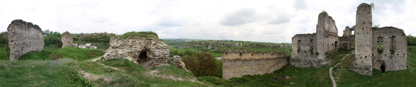 Download Panorama of Castle ruins stock image. Image of fallen - 31061349