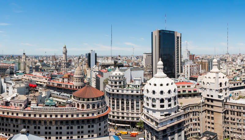 Panorama of the center of Buenos Aires royalty free stock photos