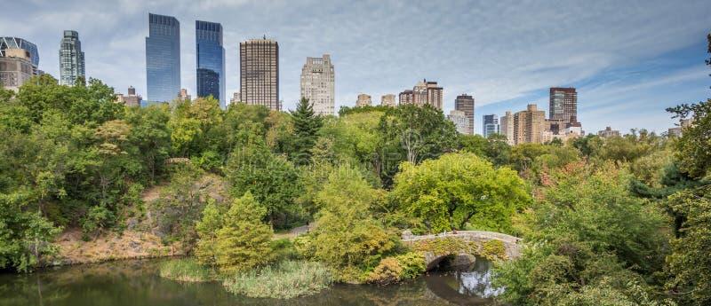 Panorama central park, Nowy Jork zdjęcie royalty free