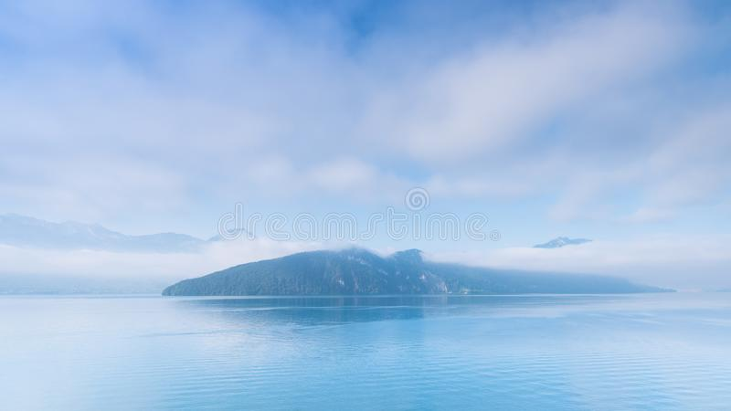 Panorama of central Switzerland. Lake Lucerne royalty free stock images