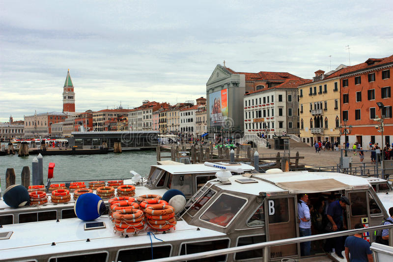Panorama of central Venice. royalty free stock photography