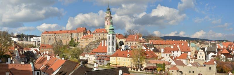 Panorama of Cesky Krumlov. royalty free stock photos