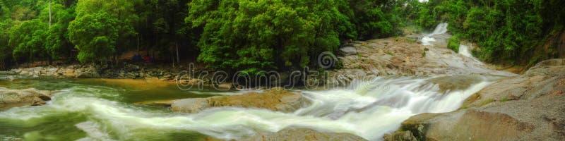 Panorama - Chamang Waterfall stock photo