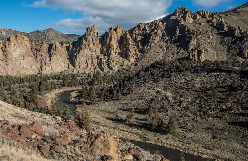 Panorama chez Smith Rock State Park image stock