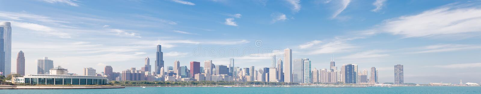 Panorama of Chicago royalty free stock images