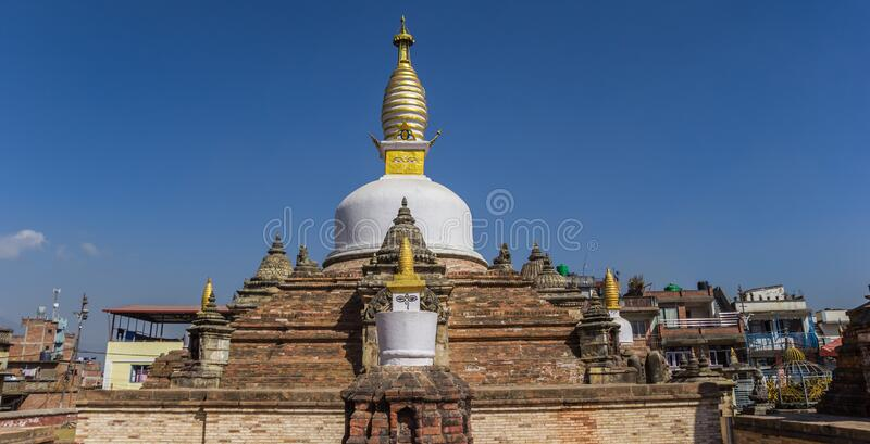 Panorama of the Chilancho Stupa in Kirtipur. Nepal royalty free stock image