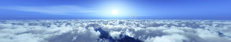 Panorama chmury ilustracji