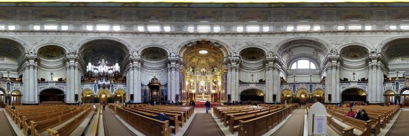 Panorama church berlin royalty free stock photos