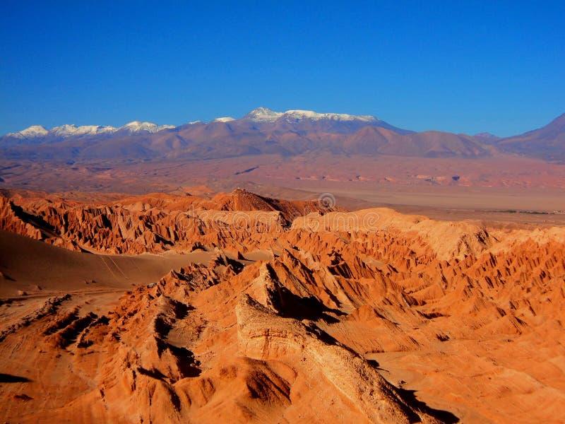 Panorama Cile san Pedro de Atacama del deserto delle colline della montagna immagini stock