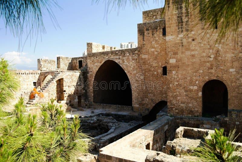 Panorama of Citadel of Raymond de Saint-Gilles , Tripoli, Lebanon. Panorama of Citadel of Raymond de Saint-Gilles in Tripoli, Lebanon royalty free stock image