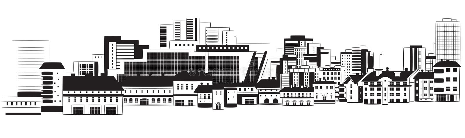 Download Panorama of city stock vector. Image of modern, design - 23900884