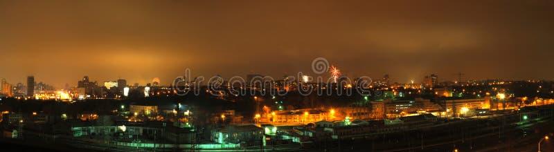 panorama city. obraz royalty free