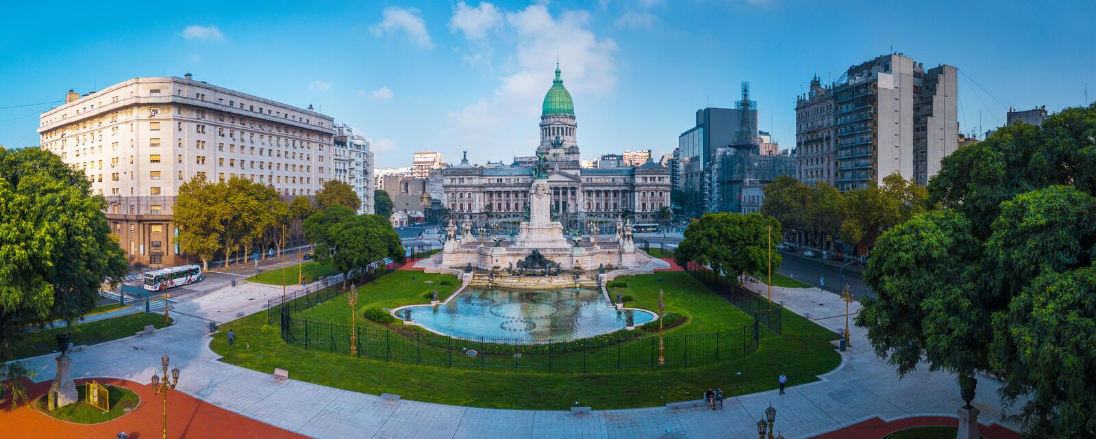 Panorama of the city of Buenos Aires royalty free stock photo