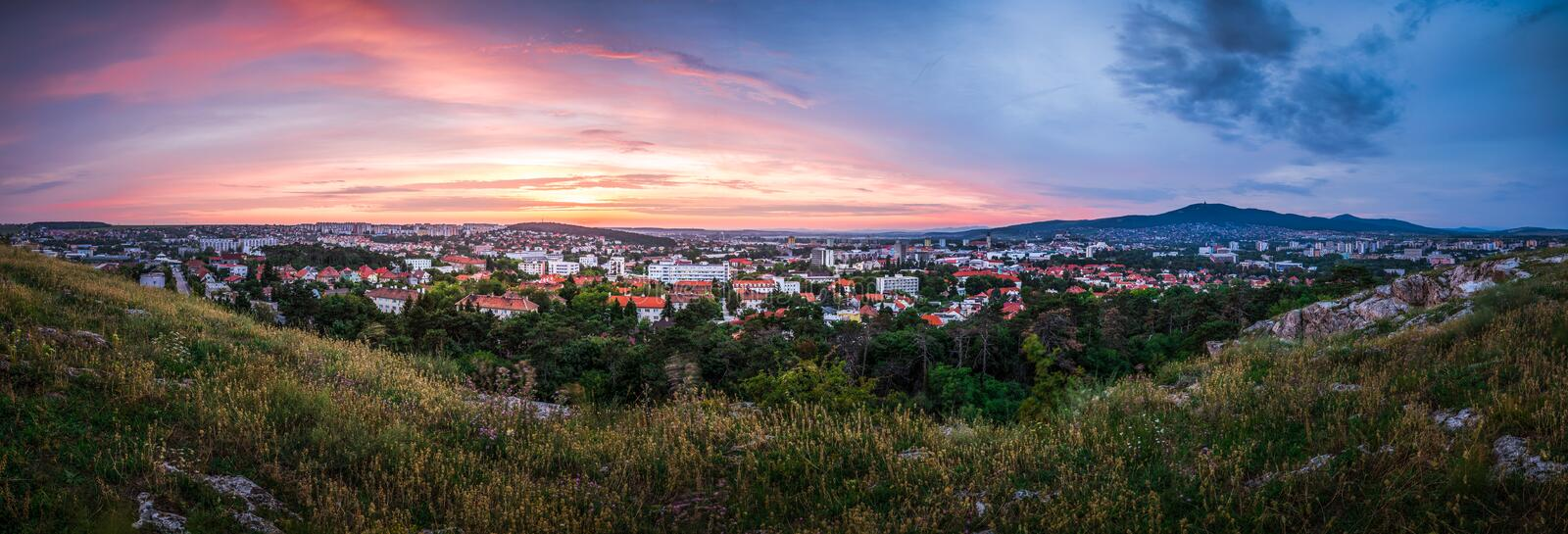 Panorama of the City of Nitra royalty free stock images