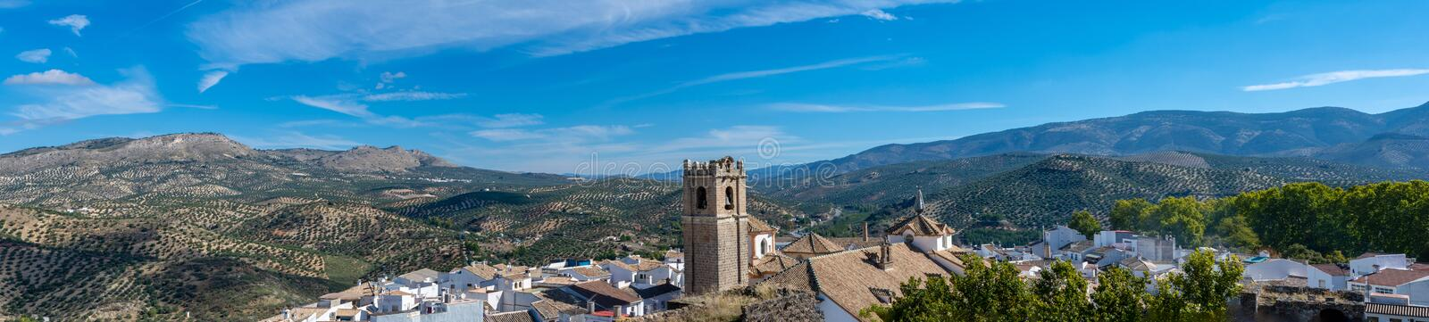 Panorama of the city of Priego de Cordoba in Spain royalty free stock photos