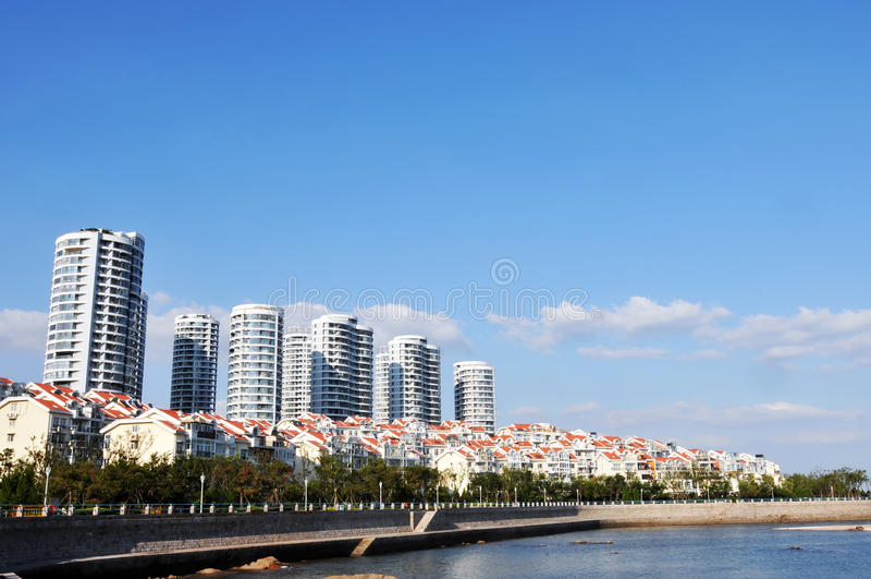 Download Panorama Of  City In Qingdao Stock Image - Image of city, croatia: 26458615