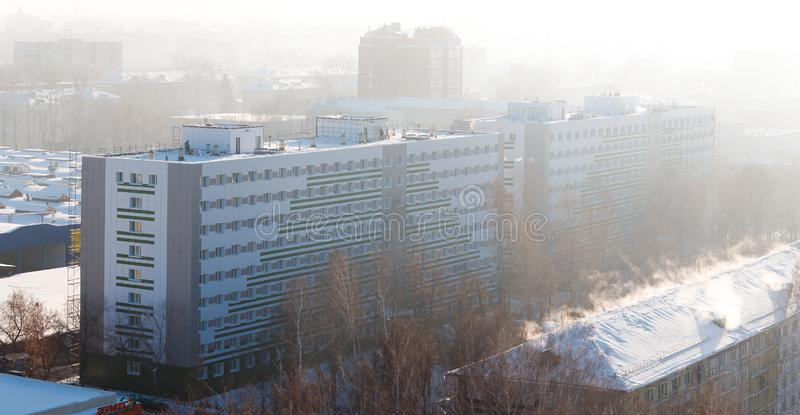 Panorama of the city of Tomsk stock images
