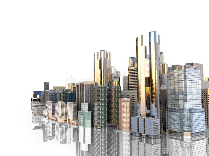 Panorama cityscape modern high rise buildings panorama of the ce download panorama cityscape modern high rise buildings panorama of the ce stock illustration illustration reheart Choice Image