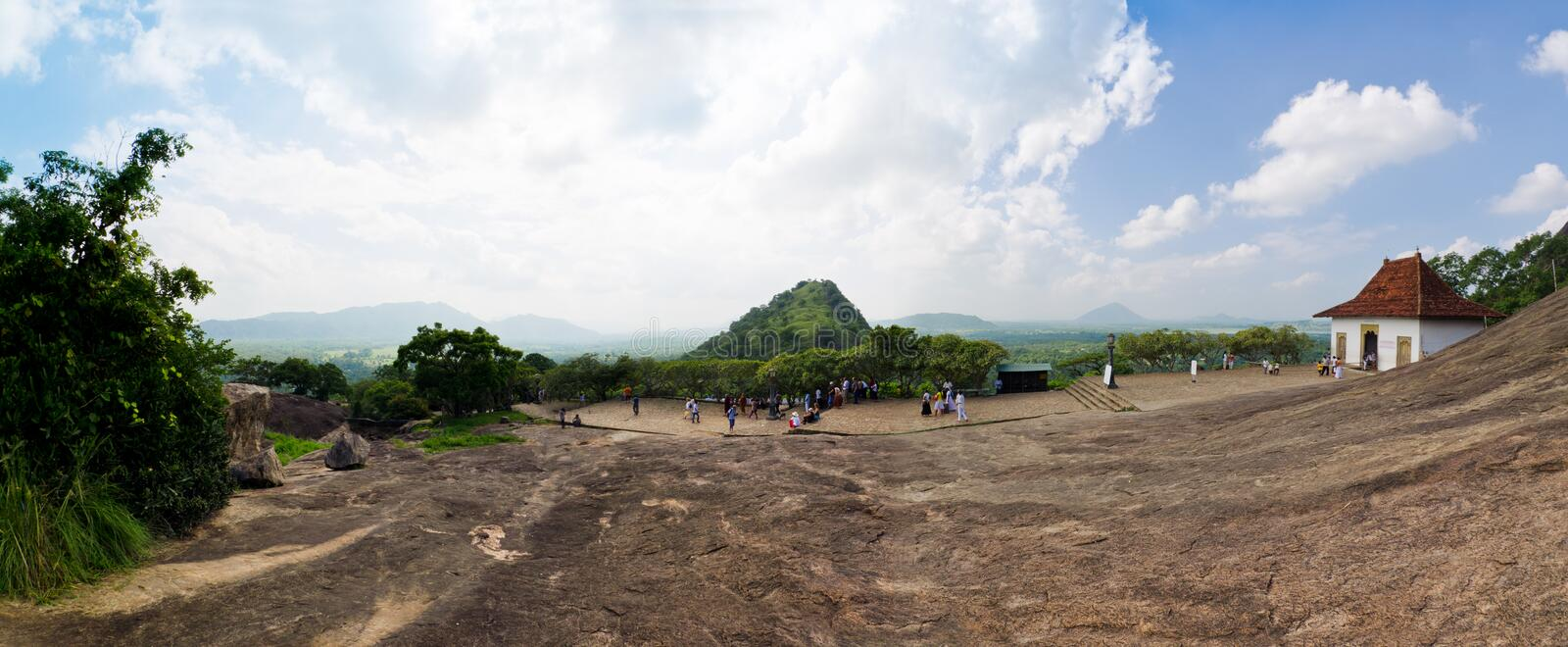 Download Panorama Close Cave Temple In Dambulla Editorial Image - Image of place, tourism: 23560345