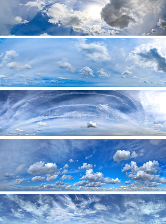 Panorama clouds pack vector illustration