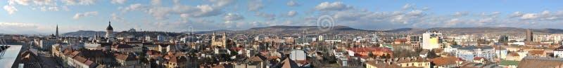 Panorama of Cluj 2 stock photos